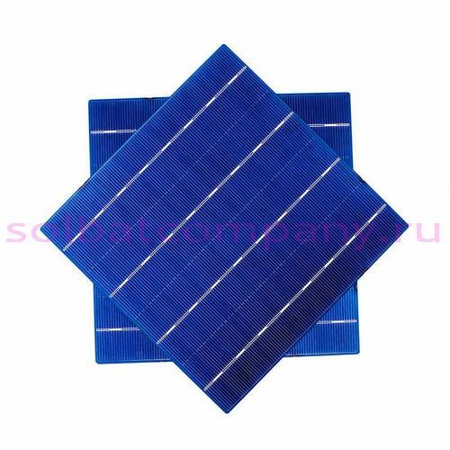 Солнечные фотоэлементы 156х156мм 3.2 W, 13.15% для сборки солнечной батареи