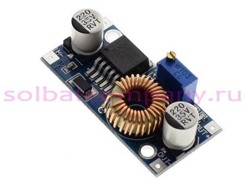 Понижающий импульсный регулируемый преобразователь XL4005 5-30V 0.8-24V 5А