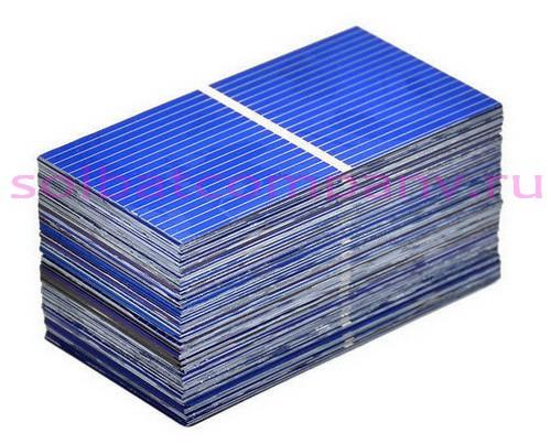 Солнечные элементы 52х26мм 0.25W для сборки солнечной батареи